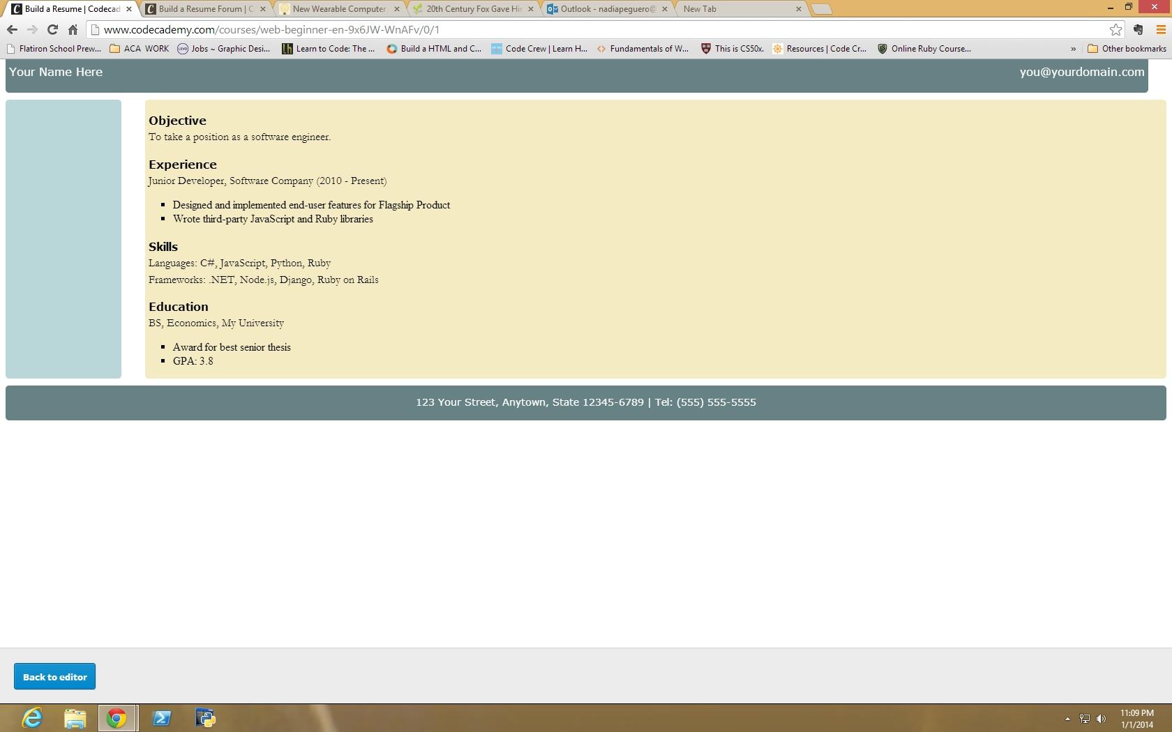 HTML/CSS Final exam...